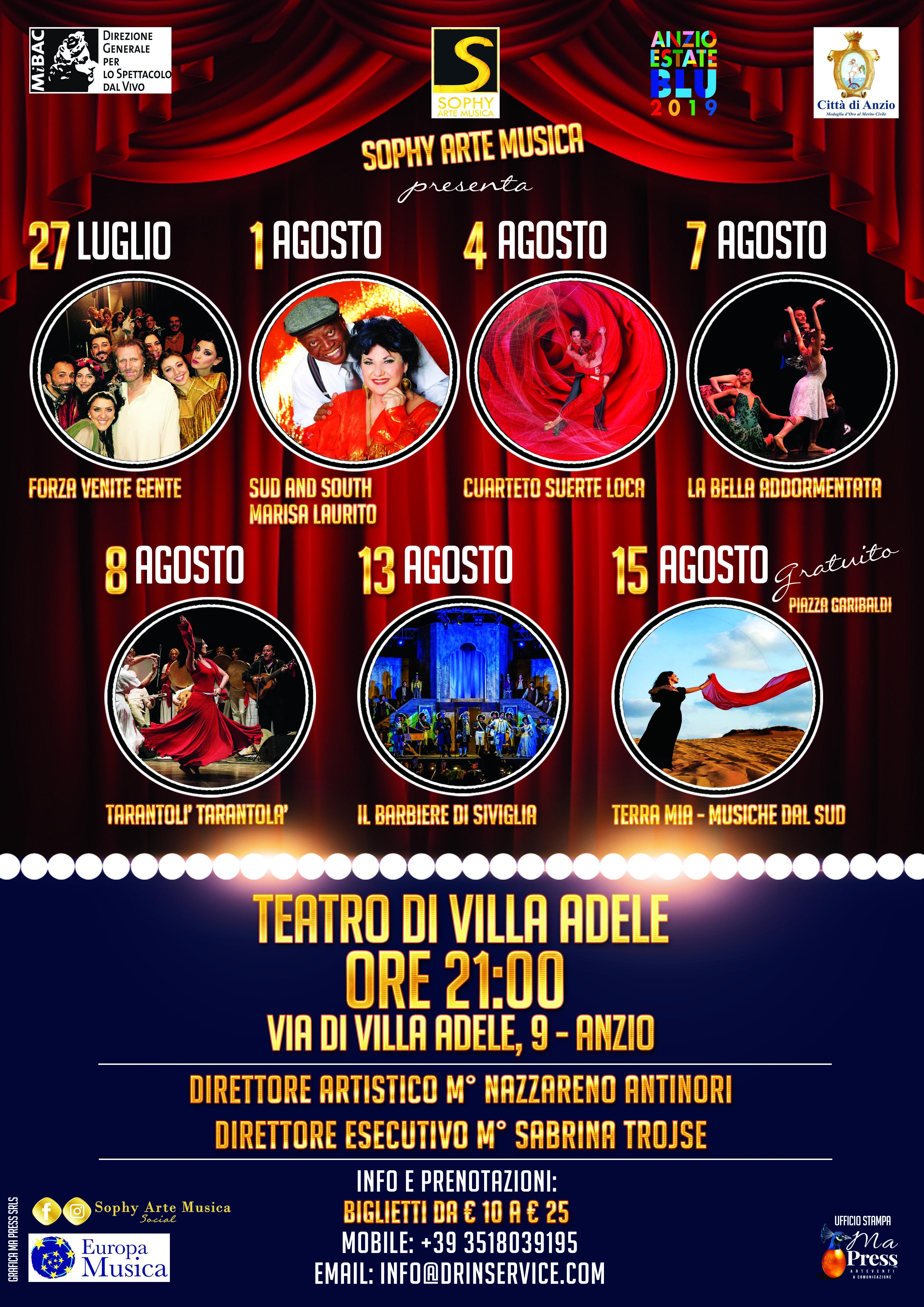 Locandina SOPHY ARTE MUSICA_spettacoli Anzio